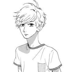 Mamura Daiki (manga: Hirunaka no Ryuusei) my precious. Sad Anime, Anime Guys, Manga Anime, Anime Art, Guy Drawing, Manga Drawing, Figure Drawing, Manga Cute, Manga Boy