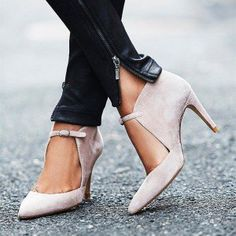 Women's Nude Heels Stiletto Heels Mary Jane Pumps