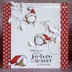 Adorable Christmas birds from Penny Black.