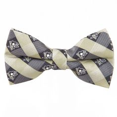 Adult NHL Check Woven Bow Tie, Black