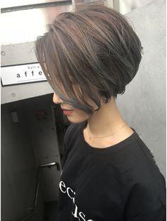 Pin on ボブ Asian Bob Haircut, Short Bob Haircuts, Short Hair Syles, Short Hair Cuts, Korean Short Hair, Asian Hair, Hair Highlights, Hair Beauty, Fashion