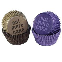 Cupcake Förmchen Eat more Cake Cupcakeformen 48 Stück; Maße 4,9 x 3,5 cm