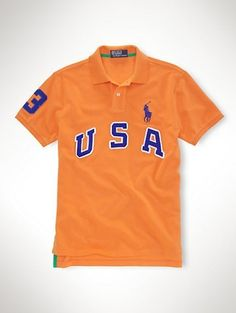 86698f665d26 2013 ralph lauren US Big Pony Polo shirts Orange Cheap Polo Shirts, Orange  Polo Shirt