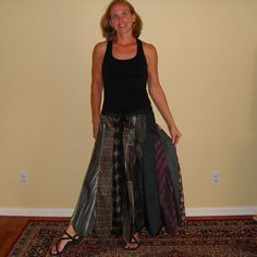 Too funny, skirt made from ties!