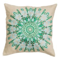 indian embroidery cushion nice color combination