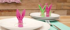 How to Fold Napkins into Bunnies