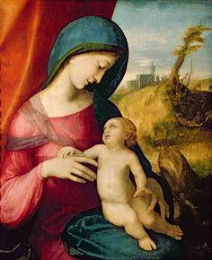 (Antonio Allegri) Correggio - Madonna and Child, 1512-14.