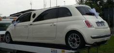 Fiat 500 limousine gespot