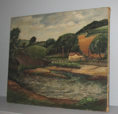 A newly discovered landscape by Roger Fry (circa 1913-1919) is now being offered for sale by Jon S. Richardson Rare Books.