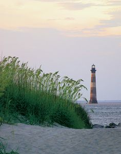 Morris Island Lighthouse Morris Island entrance to Charleston Harbor South Carolina US yes and washing away as we pin