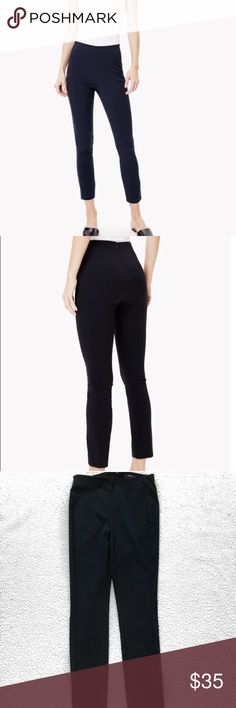 Theory Navalane Neoteric Black Ankle Pants Size 6 These Theory pants are a skinny fit made out of an elastic stretch material and are in excellent condition. It is a size 6 inseams 27 Theory Pants Skinny