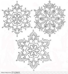 Best 12 Crochet snowflakes – set of 6 snowflakes – handmade of white cotton yarn. Each snowflake has been stiffened using natural cornstarch to hold – SkillOfKing. Crochet Snowflake Pattern, Christmas Crochet Patterns, Crochet Christmas Ornaments, Crochet Stars, Crochet Motifs, Crochet Snowflakes, Crochet Diagram, Doily Patterns, Thread Crochet
