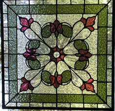 Tulip Panel  Stained Glass by LightTreeStudio on Etsy, $346.00