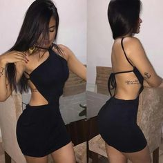 Sexy Black Homecoming Dress , Open Back Homecoming Dress – Simplepromdress Source by Dresses Sexy Outfits, Club Outfits, Sexy Dresses, Dress Outfits, Summer Outfits, Fashion Outfits, Womens Fashion, Homecoming Dresses, Ideias Fashion