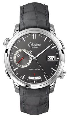 f you like classic yet modern watch then you must like this Glashutte Senator Diary. So elegant!