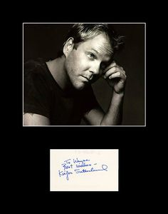 Framed Matted TV and Movie Star Kiefer Sutherland Hand Signed Autograph and Photo - 24 Jack Bauer