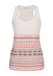 puff paint embellished tank with raw edges - maurices.com