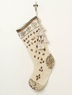 Free People Large Embroidered Booti Stocking