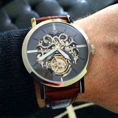"""""""The Limited Edition Lydian Skeleton Tourbillon ($908.50) by @wilkwatchworks. This piece will be handcrafted and limited to only 30! The stunning design…"""""""