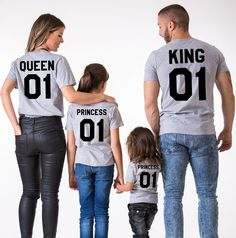 fae3ed4312 Family Look Dad Mom Kid matching outfits mommy and me clothes mother  daughter dresses Fashion T-Shits King Queen prince princess