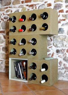 Modular One portabottiglie modulare disegnato e creato da Cool Art.....idee Made in Italy!!