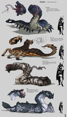 random  middle size creatures! and since i need to clean some creatures for work and as part of the ask me here ya  go some alienish creatures and bugs don't hit me XD