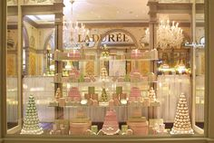 My idea of the perfect Paris shop window. Laduree.