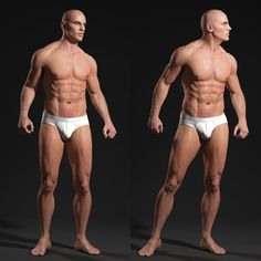 Male Body - Anatomy Study by Andor Kollar