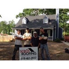 Scro's Roofing Team Josh, John, Ramon, Paul.