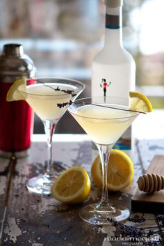 Honey Bee Martini | a Skinny Cocktail | Recipe on MarlaMeridith.com