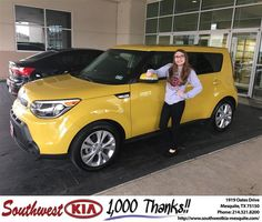 https://flic.kr/p/FgVumg | Happy Anniversary to Amanda on your #Kia #Soul from Clinton Miller at Southwest Kia Mesquite! | deliverymaxx.com/DealerReviews.aspx?DealerCode=VNDX