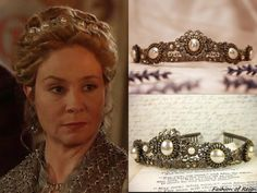 Rabbitwood and Reason 'Lucia' tiara from Reign Reign Mary, Mary Queen Of Scots, Reign Fashion, Royal Fashion, Reign Dresses, Goddess Dress, Circlet, Royal Jewels, Fantasy Inspiration