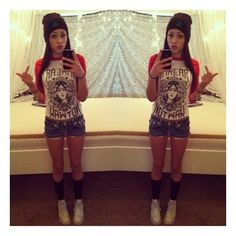 Girls with swag ❤ liked on Polyvore featuring girls, people and pictures