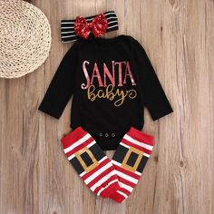 holiday clothes Santa Baby wants you to slip a present under the Christmas Tree for her. Perfectly precious set for babies first Christmas. Santa Baby, Baby Outfits, Newborn Outfits, Fashion Kids, Baby Girl Fashion, Womens Fashion, Baby Christmas Gifts, Christmas Baby Clothes, Baby Girl Christmas Outfits