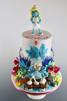 Smurfs-The Lost Village - cake by tomima