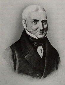 Johann Siegmund Mann (1761–1848), der Urgroßvater Thomas Manns; im Roman Johann Buddenbrook. oprichter van de firma Joh. Siegm. Mann in 1790