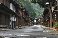 From fb's Japanese Streets: Tsumago-juku (妻籠宿) was the forty-second of the sixty-nine post towns on the Nakasendo highway, connecting Edo with Kyoto. Located in Nagano Prefecture, it still looks like an Edo Period town.