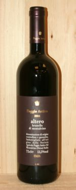 2006 Poggio Antico Altero Brunello di Montalcino    Reveiw:  James Suckling -- 95 Points  Aromas of beautiful ripe plums and berries on the nose follow through to a full body, with chewy tannins and a long velvety textured finish. The new wood, cedar, chocolate and fresh mushroom character dominates now. Big and juicy. Best after 2014.    Was $91.99 ON SALE NOW FOR $79.99