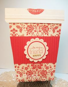 Coffee Gift Card Holders. I'd do a greeting card instead, but super cute!