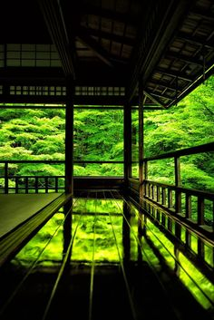 京都瑠璃光院 Ruriko-in Temple, Kyoto, Japan by Hisanori Manabe #緑 #Green #Japan
