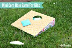 Corn hole is such a fun outdoor summer game to play! Check out this simple and fun want to create your own DIY corn hole game for your family to enjoy! Crafts For Teens, Diy For Kids, Kids Crafts, Wood Crafts, Summer Games, Summer Fun, Outdoor Fun, Outdoor Games, Fun Games