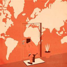 keyhole,Emiliano Ponzi illustration