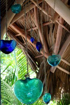 Search the quaint shops and find your glass Hearts in Sayulita Mexico. www.Casitassayulita.com
