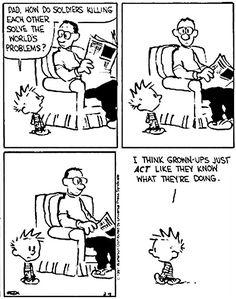 Calvin & Hobbes on being grown-ups