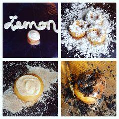 Mini Donuts Powdered, lemon, cinnamon roll, chocolate chocolate  www.bigfootslittledonuts.com