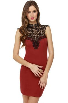 Ok I'm also really..really drawn to this dress too. The red...the black...the lace! A recipe for a good night!