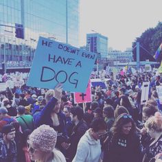 Women's March sign from I don't know which march. Woof.