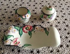Carlton ware Clarice Cliff, Carlton Ware, Antique Perfume Bottles, Pressed Glass, Vintage China, Teapots, Cup And Saucer, Poppy, Jars