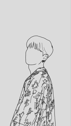 Outline Art, Outline Drawings, Kpop Drawings, Art Drawings Sketches, Cute Wallpaper Backgrounds, Bts Wallpaper, Bts Tattoos, Dibujos Cute, Bts Chibi