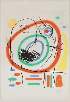 Joan Miró, comprar Le Prophète Encerclé, grabado en venta
